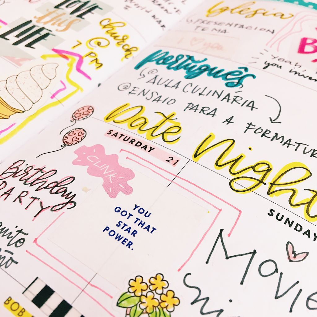 planner spread memory keeping stickers on planners