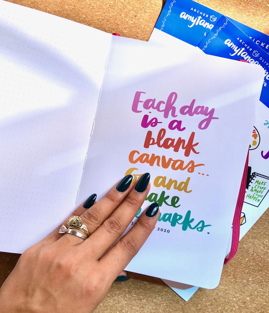 month covers planner amy tangerine archer and olive 2020